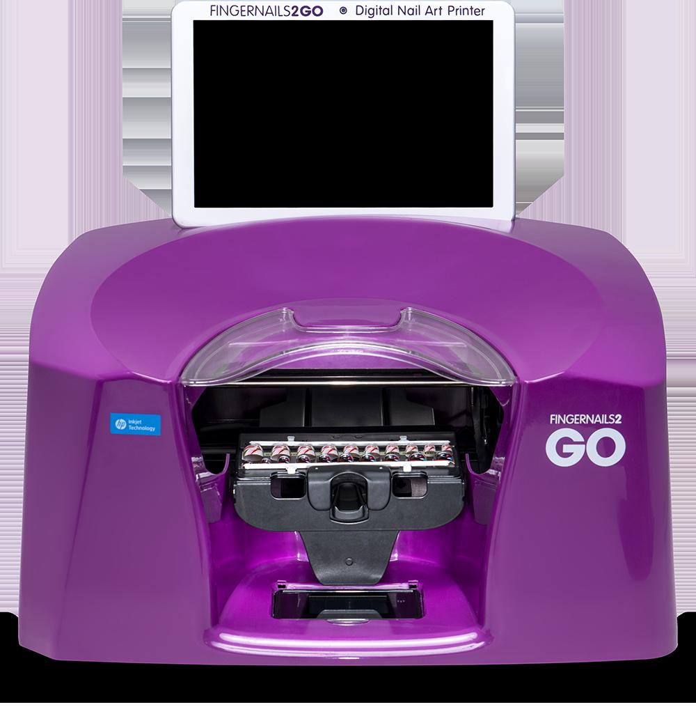 countertop transparent nail printer machine