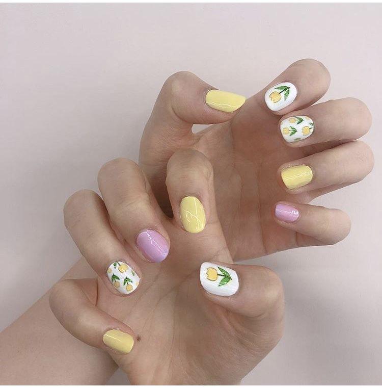 floral nail art printer
