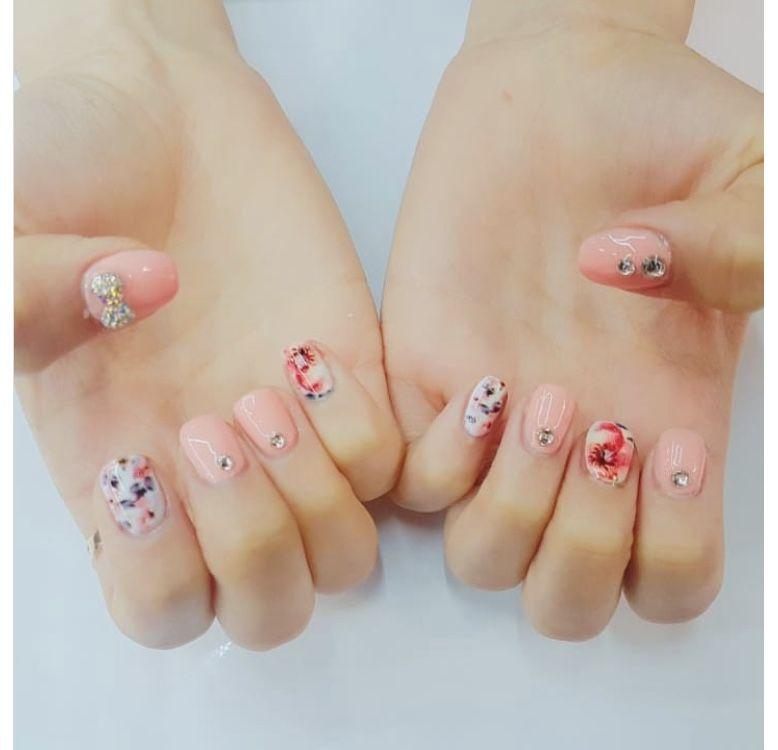 Pink Floral Nail Printer